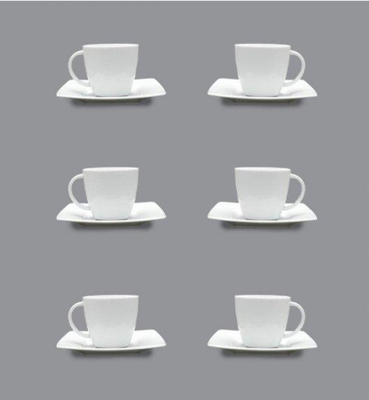 LUBIANA VICTORIA Komplet 6 Filiżanek do espresso 90 ml + spodki / 12 el / 6 os / porcelana