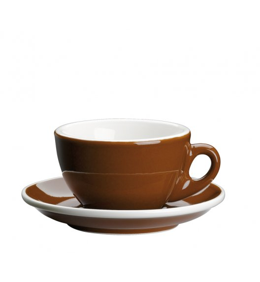CILIO ROMA Filiżanka do cappuccino ze spodkiem 100 ml / brązowa / FreeForm