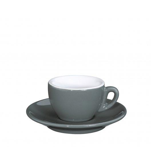 CILIO ROMA Filiżanka do espresso ze spodkiem 50 ml / szara / FreeForm