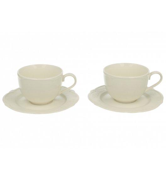 WYPRZEDAŻ! DUO LUXURY Komplet 2 filiżanek ze spodkami 150 ml / Porcelana wysokiej jakości
