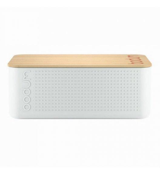 BODUM BISTRO Chlebak z drewnianą deską do krojenia 36,5 x 13,8 cm / biały / Btrzy