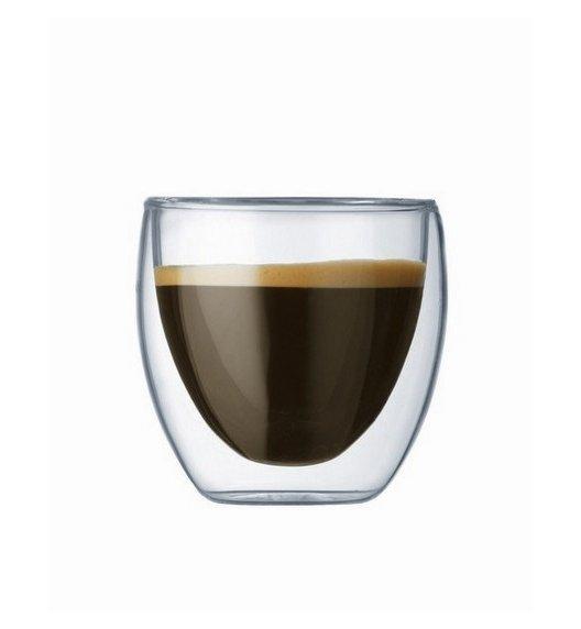 BODUM PAVINA Komplet 2 wysokich szklanek 0,08 l / podwójne ścianki / Btrzy