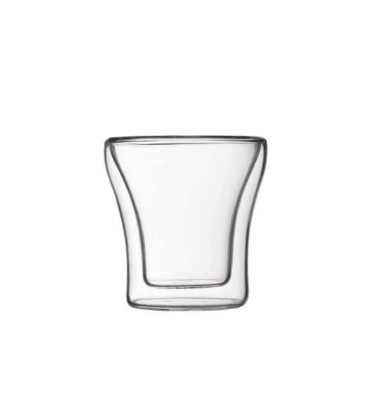 BODUM ASSAM Komplet 2 szklanek 0,1 l / podwójne ścianki / Btrzy