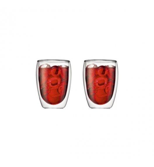 BODUM PAVINA Komplet 2 szklanek 350 ml / podwójne ścianki / Btrzy
