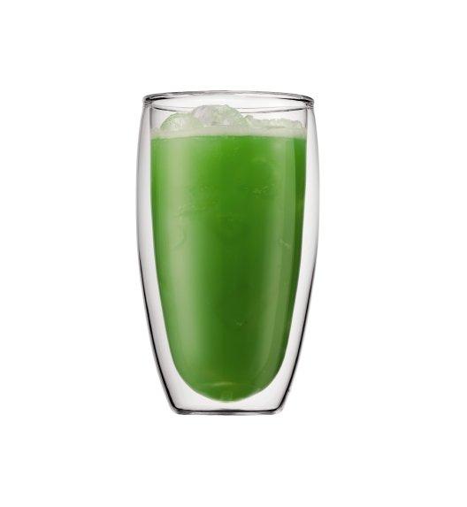BODUM PAVINA Komplet 2 wysokich szklanek 0,45 l / podwójne ścianki / Btrzy