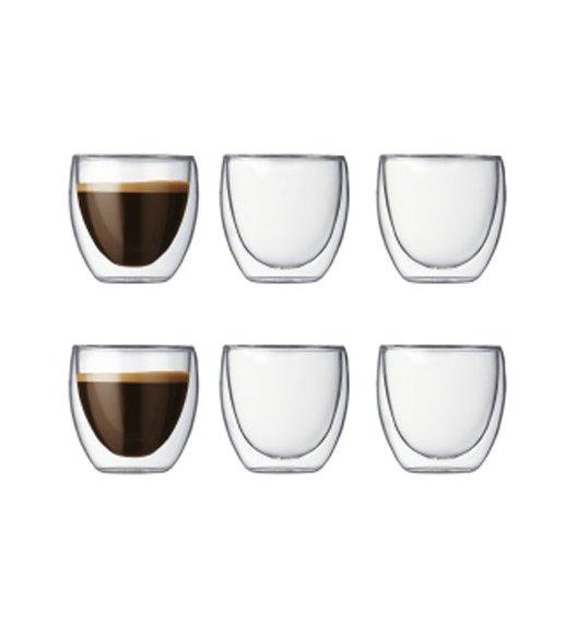 BODUM PAVINA Komplet 6 szklanek 0,08 l / podwójne ścianki / Btrzy