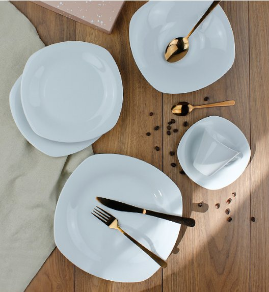LUBIANA ELEGANCE Serwis obiadowo - kawowy 30 el / 6 osób / porcelana