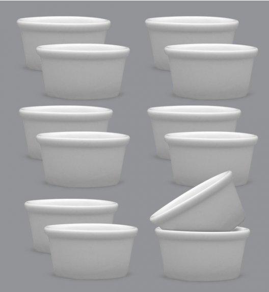 LUBIANA AMERYKA Komplet Czarki degustacyjne / na przystawki 100 ml / 12 szt./ porcelana