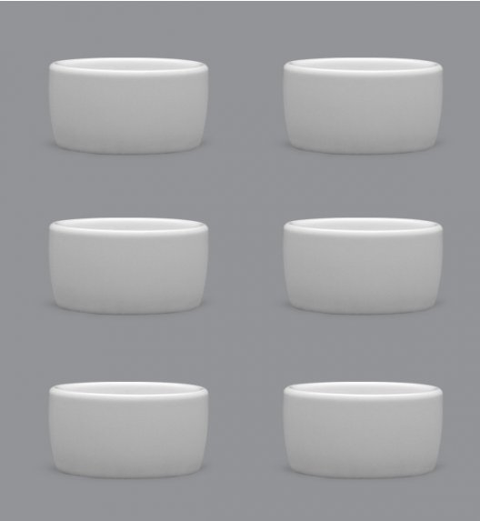 LUBIANA AMERYKA 6 x czarka degustacyjna / na przystawki 50 ml / porcelana
