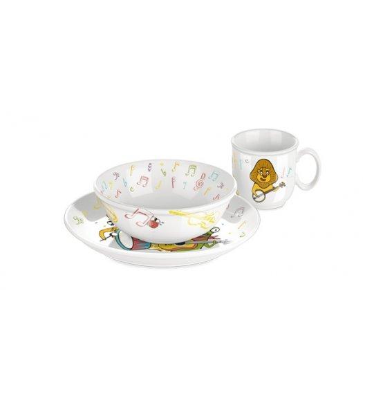 Komplet obiadowy dla dzieci Tescoma Bambini Muzycy porcelana 3 elementy. ZOBACZ FILM.