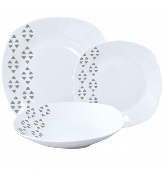 TADAR TRÓJKĄT Serwis obiadowy 18 elementów dla 6 osób / porcelana