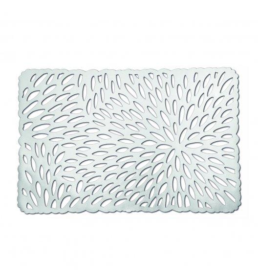 WYPRZEDAŻ! ZELLER Prostokątna podkładka PCV na stół 43,5 x 28,5 cm / srebrna