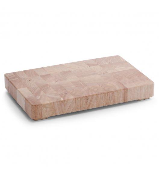 ZELLER Blok do krojenia 42 x 27 cm / drewno kauczukowe