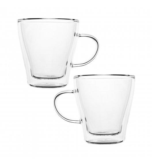 TADAR SUBLIME Komplet 2 szklanek termicznych 240 ml z podwójną ścianką / szkło