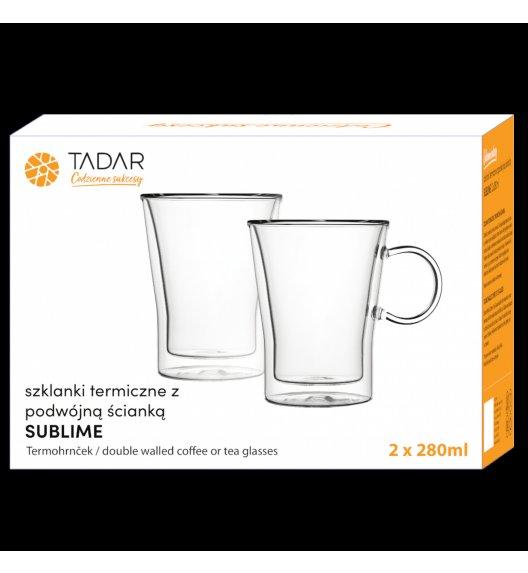TADAR SUBLIME Komplet 2 szklanek termicznych 280 ml z podwójną ścianką / szkło
