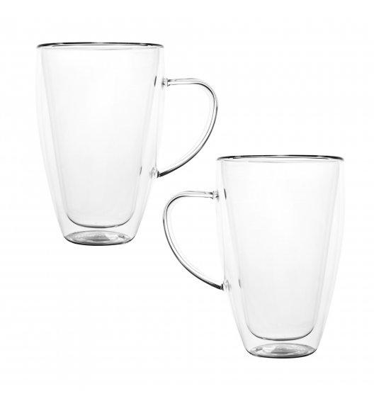 TADAR SUBLIME SLIM Komplet 2 szklanek termicznych 400 ml z podwójną ścianką / szkło