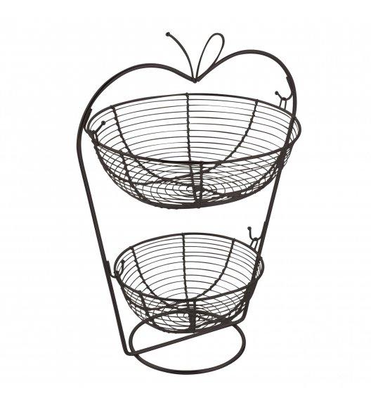 TADAR JABŁKO Koszyk na owoce / 2 poziomy / czarny