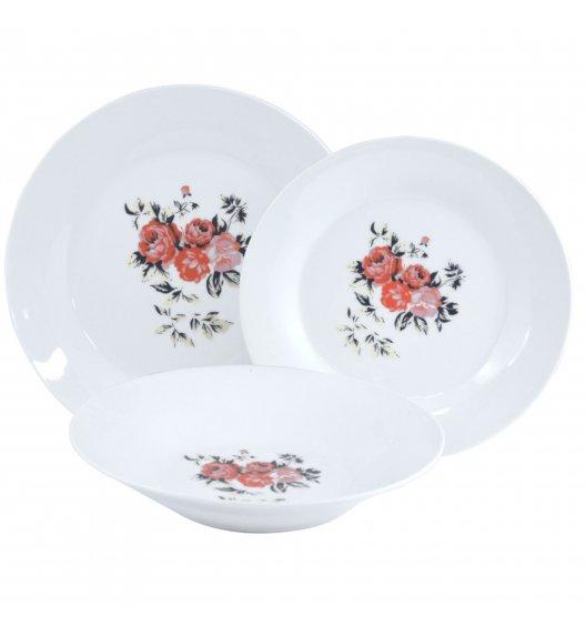 TADAR PIWONIA Serwis obiadowy 18 elementów dla 6 osób / porcelana