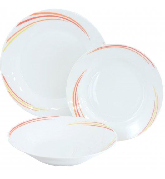 TADAR SUNNY Serwis obiadowy 18 elementów dla 6 osób / porcelana