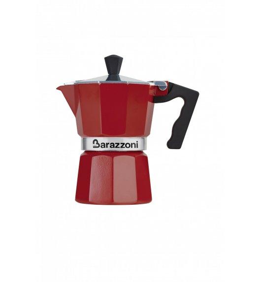 BARAZZONI LA CAFFETERIA Kawiarka na 3 filiżanki / czerwona/ aluminium