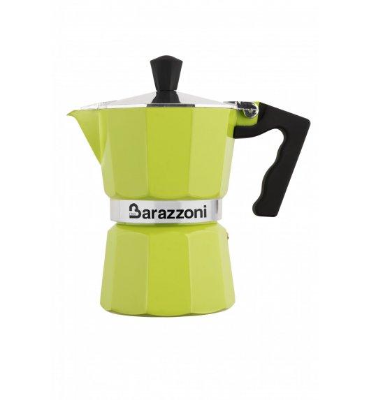 BARAZZONI LA CAFFETERIA Kawiarka na 3 filiżanki / limonkowa / aluminium