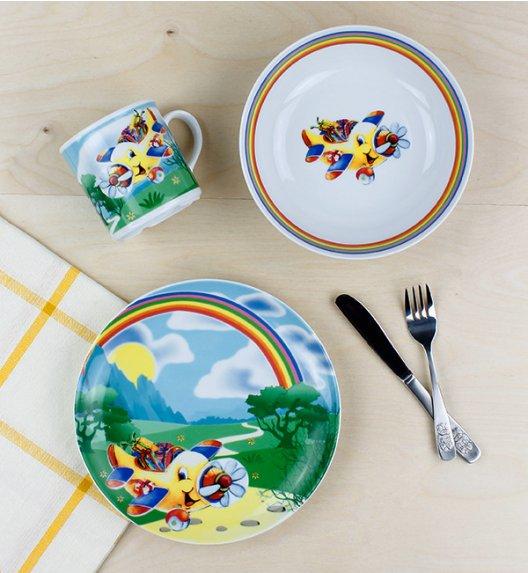 LUBIANA SAMOLOTY Komplet obiadowy dla dzieci 3 el / porcelana