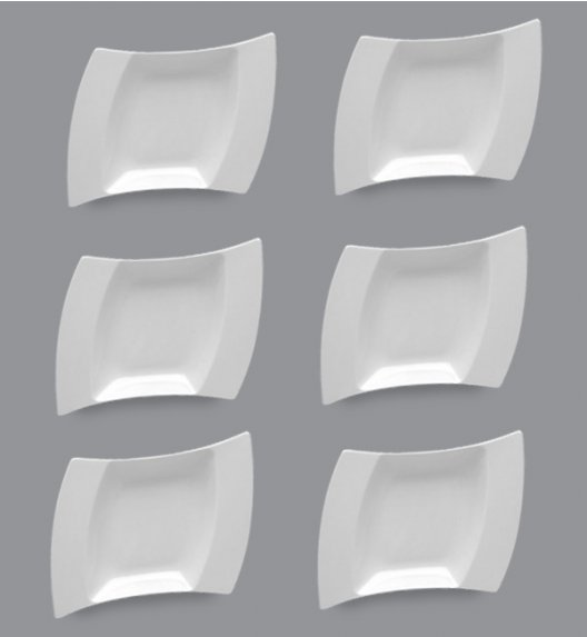 PROMOCJA! LUBIANA WING Komplet Talerze głębokie 25 cm / 6 el / 6 os / porcelana
