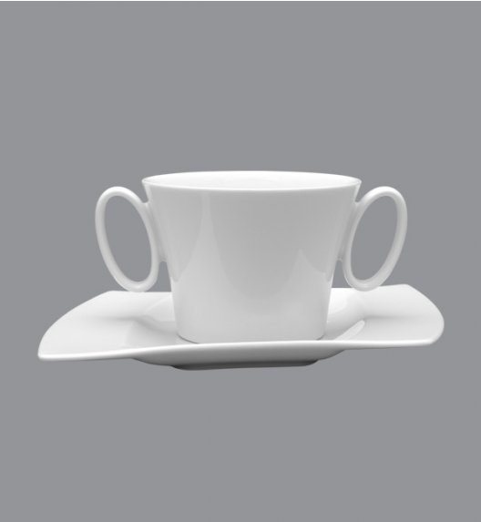 PROMOCJA! LUBIANA WING Bulionówka 400 ml + spodek 21,5 cm / 2 el / porcelana