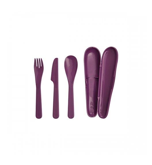 ALADDIN FOOD Ekologiczny zestaw sztućców 3 el / fiolet