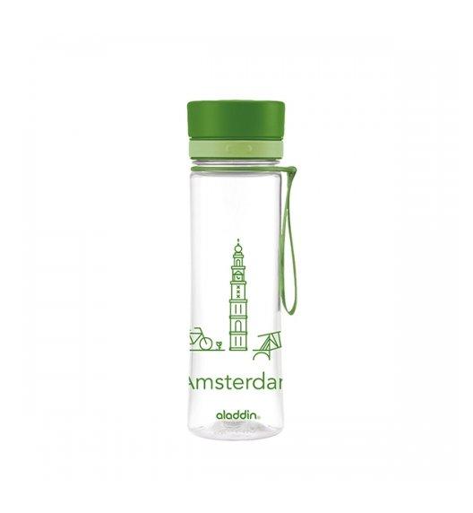 ALADDIN AVEO Butelka z motywem AMSTERDAM / 600 ml / zielona