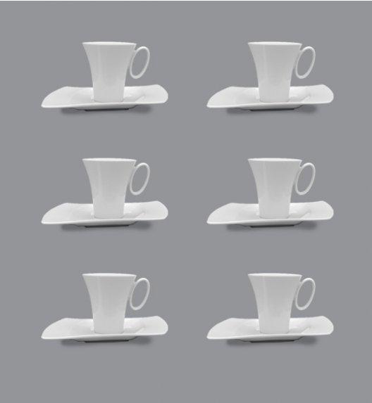 LUBIANA WING Komplet filiżanka 200 ml + spodki 20,5 cm / 12 el / 6 os / porcelana