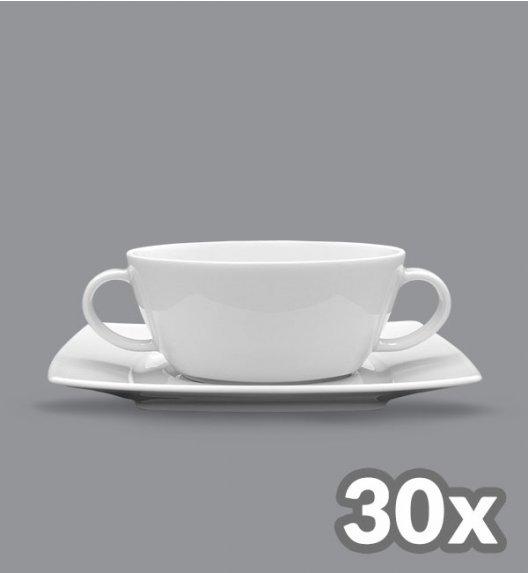 LUBIANA VICTORIA 30 x Bulionówka 300 ml + spodek / porcelana