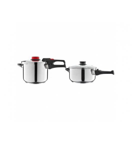 AMBITION OPTIMO Komplet Szybkowar 6 + 4 L z sitkiem do gotowania na parze / 94554