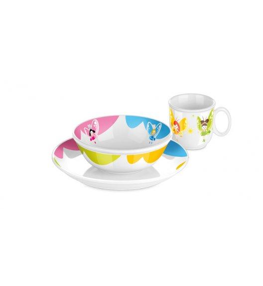 Komplet obiadowy porcelana + sztućce dla dzieci Tescoma Bambini Rusałki 7 elementów. ZOBACZ FILM.