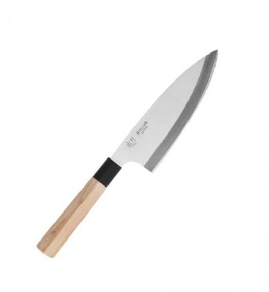 STELLAR SAMURAI Nóż Deba 16 cm / stal nierdzewna + drewno klonowe