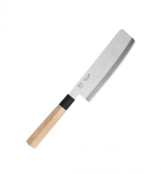 STELLAR SAMURAI Nóż Usuba 16 cm / stal nierdzewna + drewno klonowe