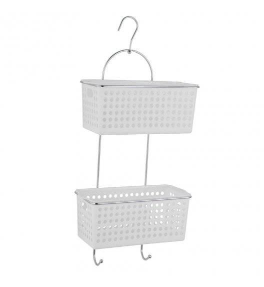 TADAR Półka łazienkowa wisząca 64,5 cm / 2 poziomy / metal + tworzywo sztuczne