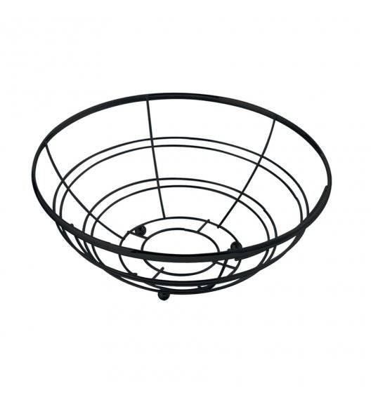 TADAR Koszyk na owoce 28 cm / czarny / metal