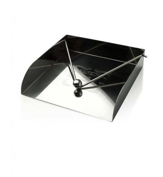 MONDEX Serwetnik metalowy 18,5 x 18,5 x 4 cm / srebrny