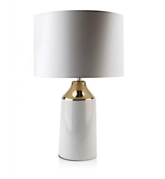 MONDEX DELIA Lampa 55 cm / biało - złota  / ceramika