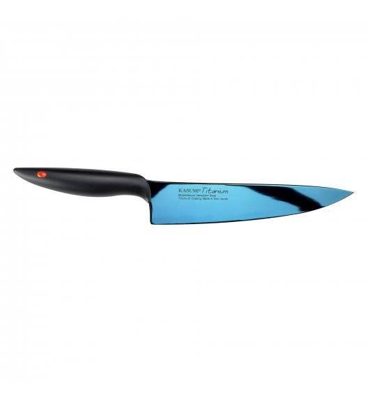KASUMI TITANIUM Japoński nóż szefa kuchni 20 cm / stal wysokowęglowa / niebieski