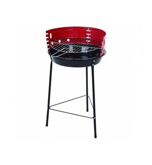 PATIO Grill okrągły 33 cm / stal / czarno - czerwony