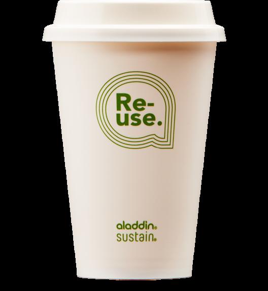 ALADDIN RE-USE Kubki ekologiczne z pokrywką Sustain 550 ml / 4 szt