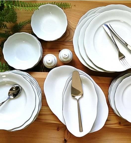 KRISTOFF ALASKA PLATYNA Serwis obiadowy 53 el / 12 osób / porcelana ivory