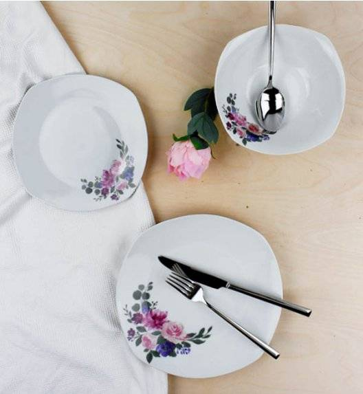 AFFEKDESIGN BUKIET RÓŻ Serwis obiadowy 18 elementów / 6 osób / porcelana