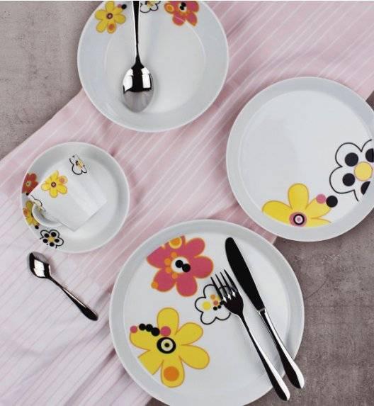 KAROLINA TRENDY FLOWERS Serwis obiadowo - kawowy 30 elementów dla 6 osób / porcelana