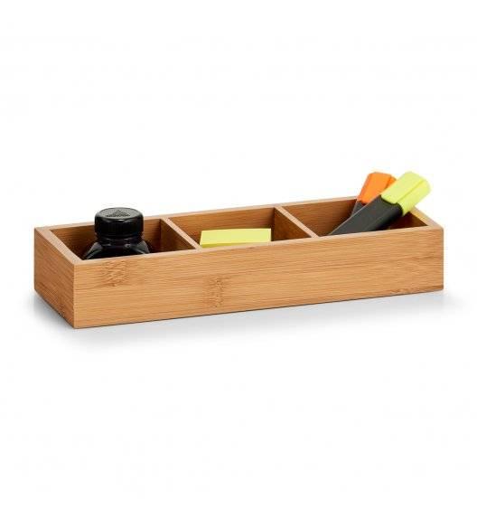 ZELLER Pudełko do przechowywania z 3 przegródkami 28 cm / drewno bambusowe