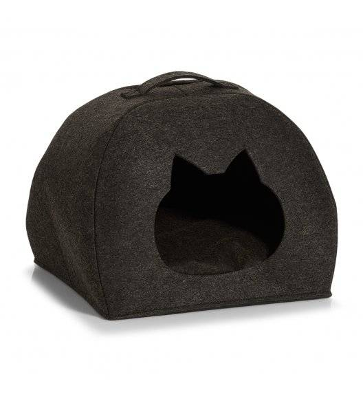 ZELLER Koszyk filcowy / legowisko dla zwierząt 45 x 38 x 34,5 cm / antracytowy / filc