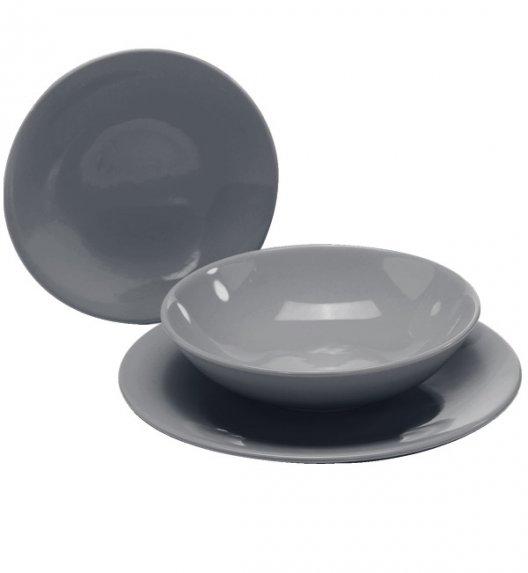 WYPRZEDAŻ! TADAR EGE Talerz deserowy 20 cm luzem / ciemno szary / ceramika