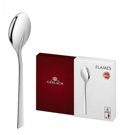 Gerlach Flames Sztućce Łyżeczki do herbaty 6 el pudełko / 6 osób / matowione